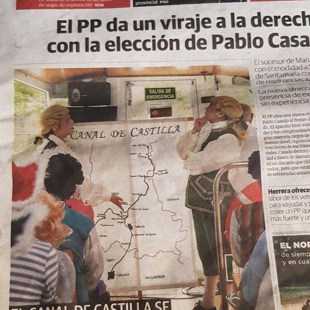 Rodajes y Rutas teatralizadas Canal de Castilla Ana Rueda Eventos