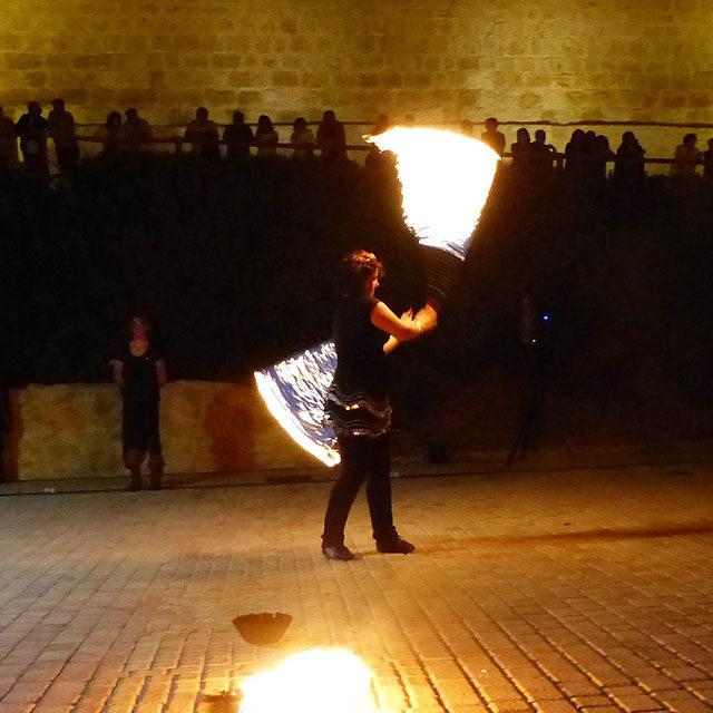 Mercados medievales   Espectáculo fuego